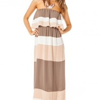 Color Play Maxi Dress in Blush - ShopSosie.com