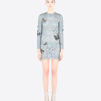 Dress In Embroidered Heavy Lace, Dresses for Women - Valentino Online Boutique