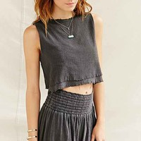 Urban Renewal Layered Gauze Cropped Top-