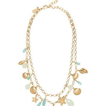 under the sea double strand necklace