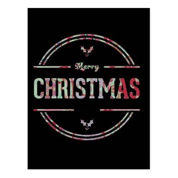 Merry Christmas Greeting Postcard