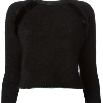 Roku exposed seam cropped sweater