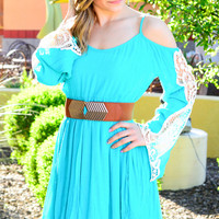 ROAD TO INDIO DRESS IN TEAL