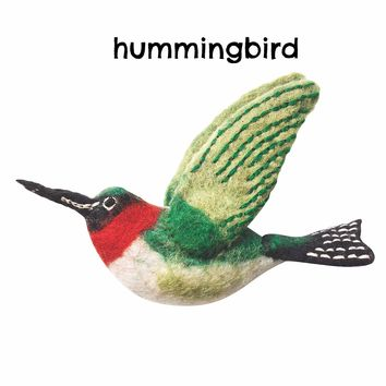 Wild Woolies Natural Felt Bird Ornaments