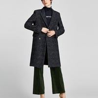 CHECKED DOUBLE-BREASTED COATDETAILS