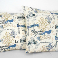 Paris Pillow Covers Bird Home Decor 18 X 18