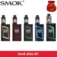 Smok Alien Kit Alien 220W Box Mod with 3ml TFV8 Baby Tank e Electronic Cigarette Vape Kit VS Smok Al 85 box mod kit