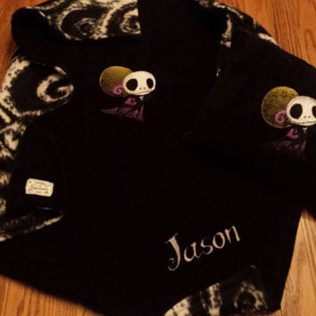 NiGHTMaRe Before ChRiSTmAS Jack Skellington BABY BLANKeT CuDDLy EMBROiDERED +PERSONALiZATiON & PiLLOWs avail Designs by Sugarbear
