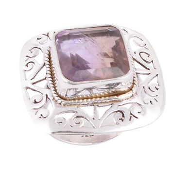 Genuine Amethyst Ring,Amethyst Ring,Amethyst Ring Sterling Silver,Purple Stone Ring,Ring Amethyst,Solitaire Ring,Birthday Gifts