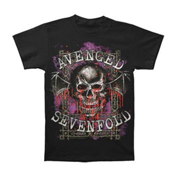Avenged Sevenfold Men's  Bloody Trellis T-shirt Black