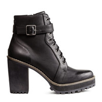 H&M Glittery Ankle Boots $49.99