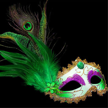12 Colors Women Feathered Venetian Masquerade Masks for a masked ball Lace Flower Black