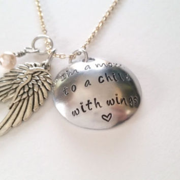 I'm A Mom To A Child With Wings Necklace/Key Chain-Jewelry
