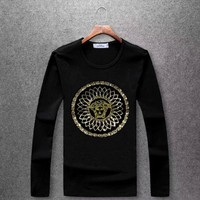 Versace Round collar long sleeved T - shirt