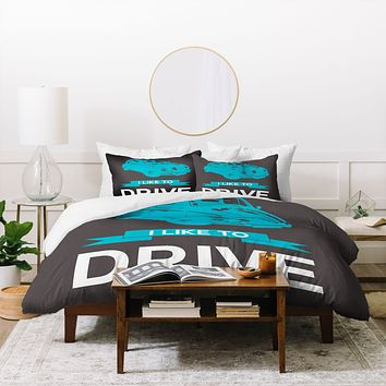 Naxart I Like To Drive Beetle 3 Duvet Cover