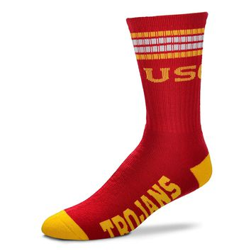 USC Trojans Mens Stripe Socks