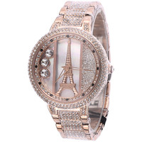 Luxury Tower Watch with Swarovski Rhinestone Elements