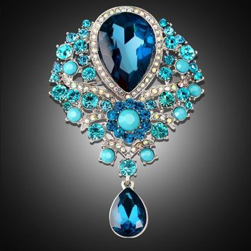 Rhinestone alloy brooch female