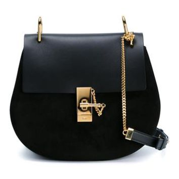 CHLOÉ | Small Leather and Suede Drew Bag | Womenswear | Browns Fashion