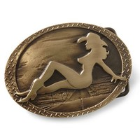 Montana Silversmiths Mud Flap Cowgirl Belt Buckle - Sheplers