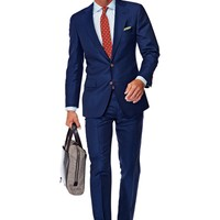 Suit Blue Plain York P3892 | Suitsupply Online Store