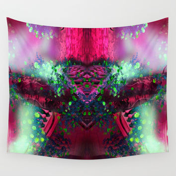 hearted alien Wall Tapestry by Haroulita | Society6