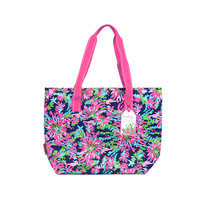 Lilly Pulitzer Insulated Beach Cooler - Trippin' and Sippin' Navy