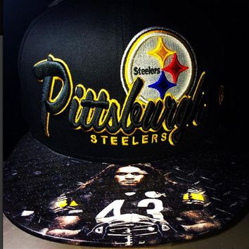 Pittsburgh Steelers Authentic New Era Snapback or Fitted with Custom Brim