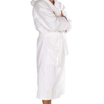Turkish Cotton Adult Hooded Terry Velour Robe