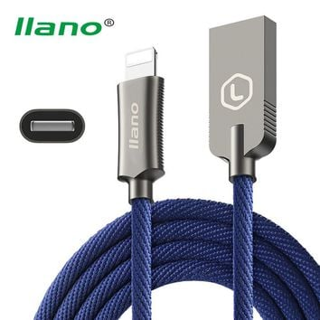 llano For iphone Cable 2.4A Fast Charging Cabo For iphone 6 Charger 2 in 1 Charge Data Sync Wire For iphone 5 5s 6 6s 7 Chargeur