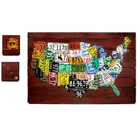 RECLAIMED LICENSE PLATE MAP - AARON FOSTER