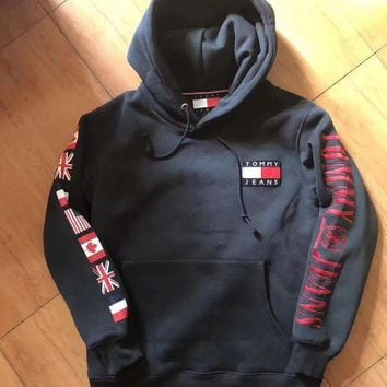 Tommy Hilfiger Fashion Casual Women Men Hot Hoodie Cute Sweater G