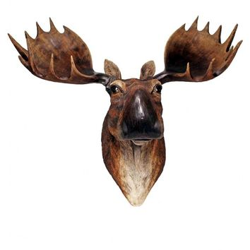 Giant Moose Attack Plaque - 3D Wall Trophy