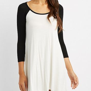 Raglan T-Shirt Dress | Charlotte Russe
