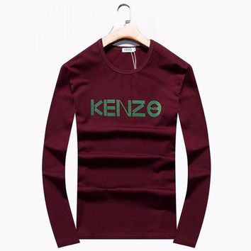 ONETOW - Brand:KENZO- Gender: Unisex-Color:Burgundy,Black,Blue,- Season: Spring Autumn Winter- Style: Sport Casual- Material: Cotton