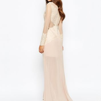 Love Triangle Sneak A Peek Lace Maxi Dress
