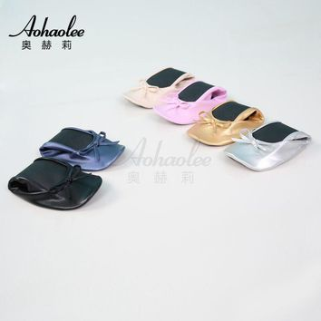 After-Party Shoes Foldable Ballet Flats Portable Travel Fold up Shoe Prom Ballerinas F