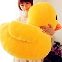 Giant Yellow Duck Stuffed Animal Plush Soft Toys Cute Doll Pillow [7898145159]