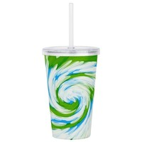 Groovy Turquoise Blue Acrylic Double-wall Tumbler