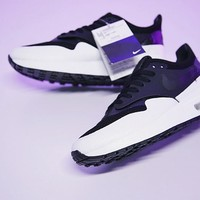 "NikeLab Air Max 1 Royal SE Running Shoes ""Black&White&Purple"" AA0869-001"