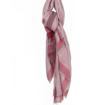 Lanvin Cotton hound's-tooth cloth scarf