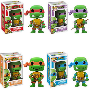 Funko POP Teenage Mutant Ninja Turtles Vinyl Figure Hot Cartoons mini Decorative Collection Model Toy with Retail Box for Gift