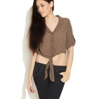 Deal Jeans Brown Get Knotty Sheer Top Online Shopping | 64964