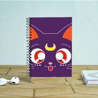 Sailor Moon Luna Kawaii Cat Photo Notebook Auroid