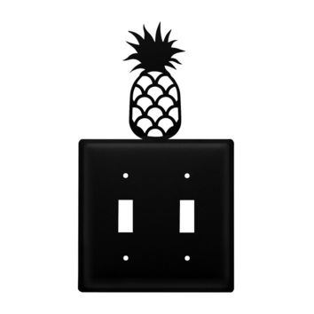 Wrought Iron Pineapple Double Switch Cover