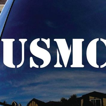 USMC United States Marine Corps Logo Decal Sticker Vinyl Decorative for Wall Car Auto Ipad Macbook Laptop