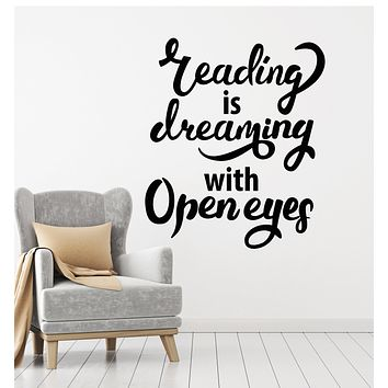 Vinyl Wall Decal Reading Room Bookstore Library Quote Saying Stickers Mural (g965)