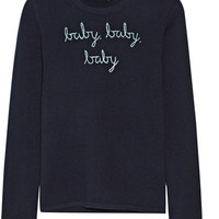 Lingua Franca - Baby Baby Baby embroidered cashmere sweater