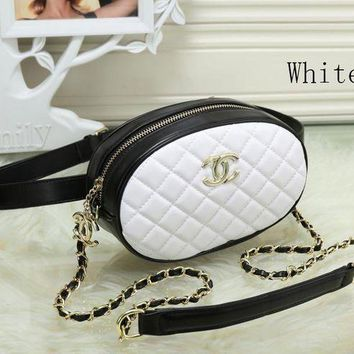 ONETOW Chanel Women Fashion Leather Waist bag Satchel Shoulder Bag Crossbody
