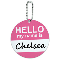 Chelsea Hello My Name Is Round ID Card Luggage Tag